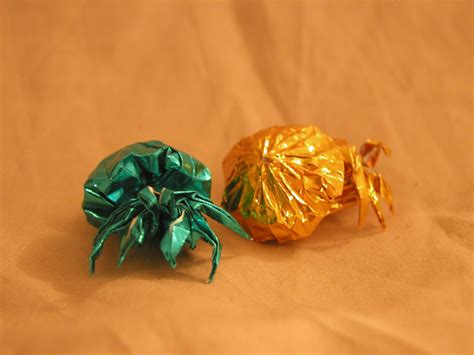 Origami Hermit Crab - origami hermit crab v2 by donyaquick on deviantart