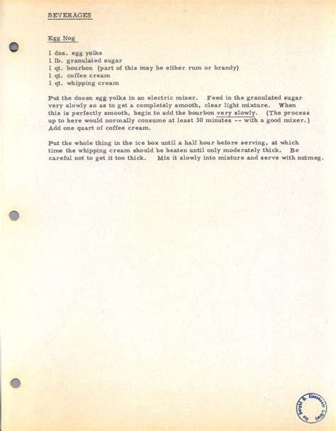 white house eggnog recipe president ike s bourbon egg nog must try white house recipes pinterest
