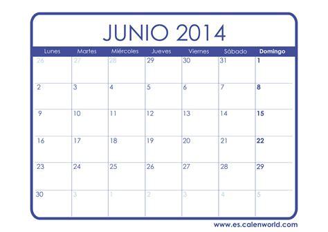 calendario junio 2014 calendarios para imprimir