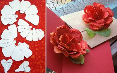 Layered Flower Card Template by Printable Quilling Patterns Paper Patterns Free Browse
