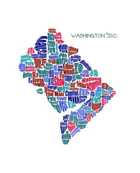 washington dc neighbourhoods map neighborhood typography maps