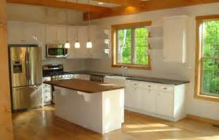 white cabinets oak trim oak trim