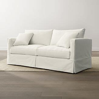 slipcovered sofas crate and barrel