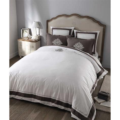 parure de lit 220 x 240 cm montesquieu en coton blanche
