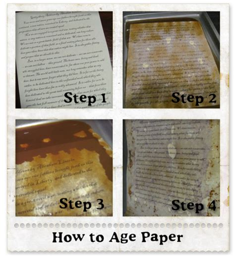 How To Make Vintage Looking Paper - adding some spice to your history studies with aged paper