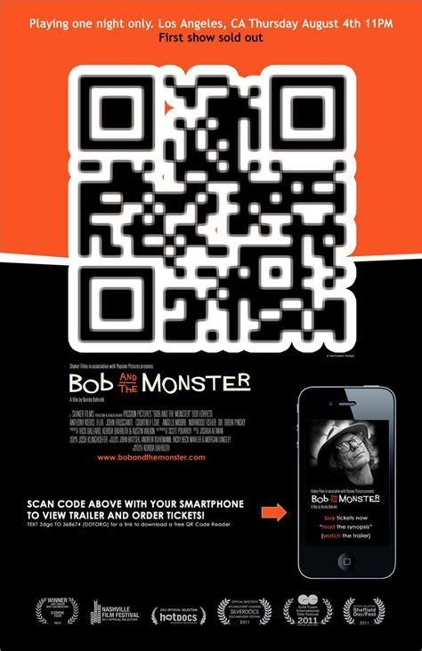 Poster Design With Qr Code | movie posters and qr codes 2d code
