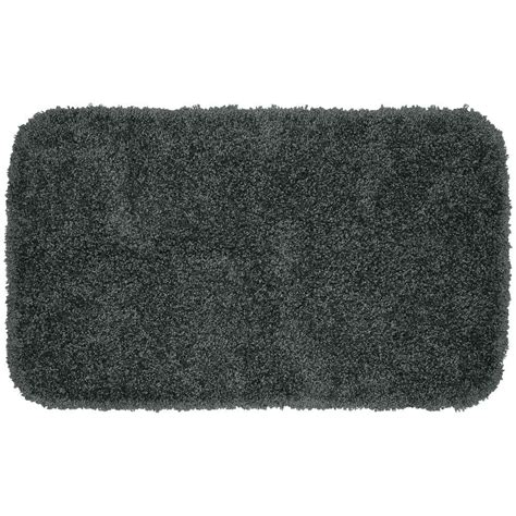 bathroom accent rugs garland rug serendipity dark gray 24 in x 40 in washable