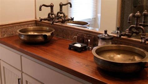 Wooden Bathroom Countertops by 20 Bathrooms With Wooden Countertops