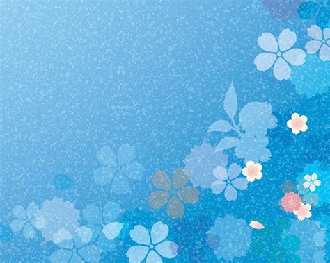 20 Blue Flower Backgrounds Wallpapers Freecreatives Blue Flower Powerpoint Backgrounds Hd Free Wallpaper