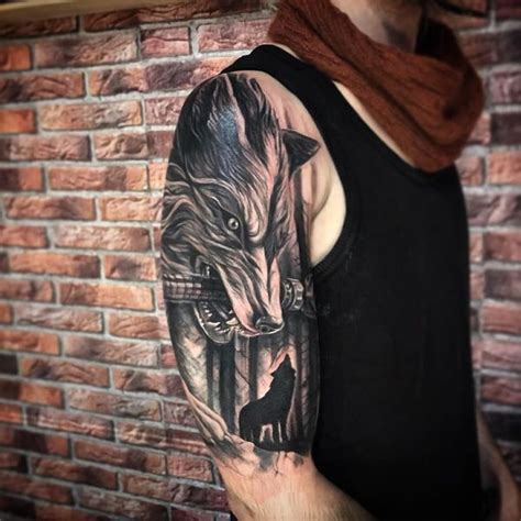 wolf sleeve tattoo tattoo collections