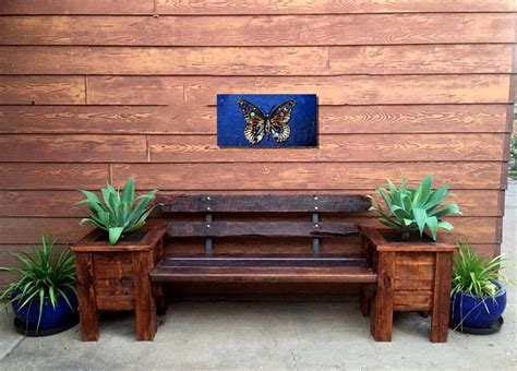 Craft Ideas For Kitchen pallet bench seat and planter box 101 pallet ideas