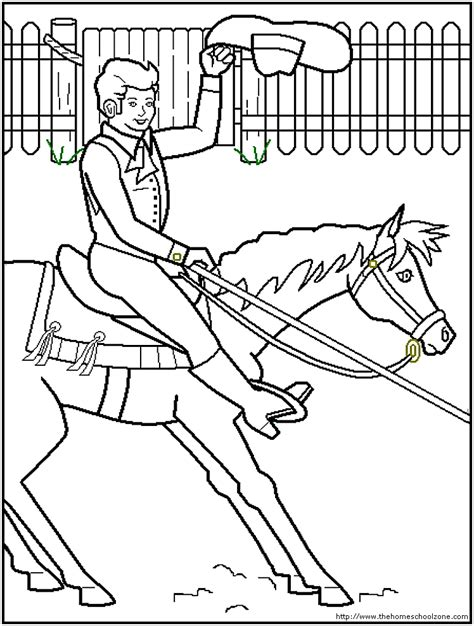 barrel racing coloring pages coloring home
