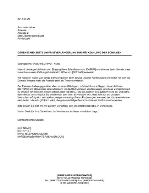 Vorlage Antrag Auf Schlichte änderung Bitte Um Fristverl 228 Ngerung Zur R 252 Ckzahlung Der Schulden Vorlagen Und Muster Biztree
