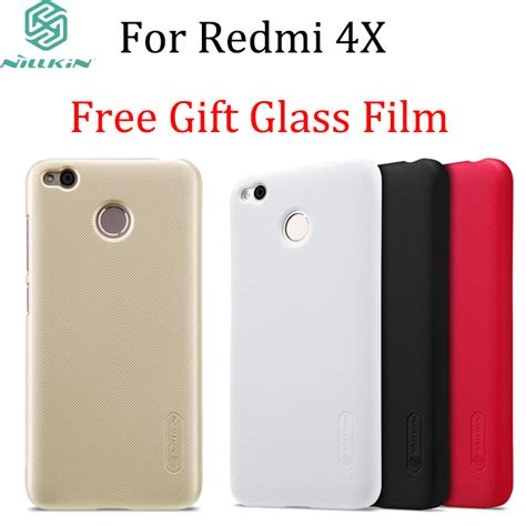 Hardcase Nillkin Frosted Xiaomi Redmi 4 Free Anti Gores glass gift for xiaomi redmi 4x nillkin frosted shield imported pc for redmi