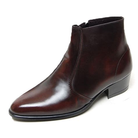 mens dress ankle boots new mens genuine cow leather dress formal business casual
