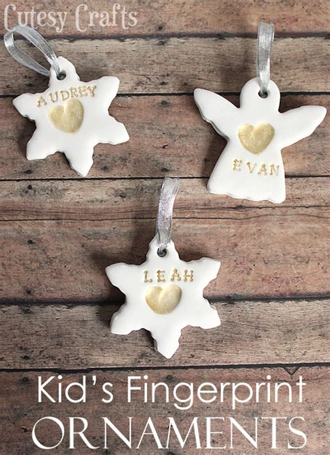Childrens Handmade Ornaments - kid s fingerprint handmade ornaments