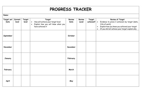 Tracking Sheet Template For Teachers by Pupil Tracking Sheet By Jxn Teaching Resources Tes