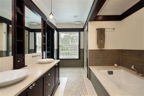Modern Master Bathrooms Modern Master Bathroom With Built In Bookshelf By Home Stratosphere Zillow Digs