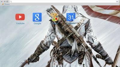 theme google chrome assassin s creed assassin s creed 3 chrome themes themebeta