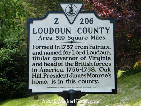 Virginia Search Loudoun County Loudoun County Z 206 Marker History