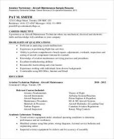 Aviation Technician Sle Resume by Aircraft Technician Resume Exles Pilot Description Cv Sle Flying Aircraft Sheet Metal