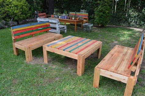 recycled pallet outdoor furniture set 101 pallets