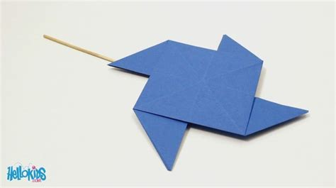 Windmill Origami - paper windmill crafts for