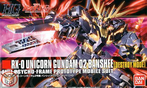 Bandai Gundamuniversal Century 1144 Hg Rx 0 Unicorn Gu Berkualitas 1 144 hguc rx 0 unicorn gundam 02 banshee destroy mode