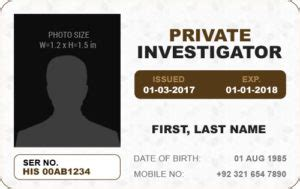 Detective Id Card Template by Ms Word Photo Id Badge Templates For All Professionals