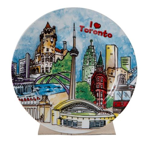 pattern grader toronto canada souvenirs gifts i love toronto porcelain plate