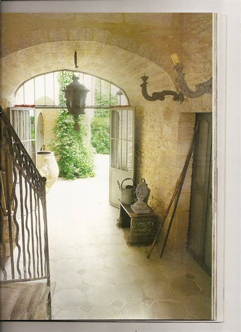 entry foyer stairs french country