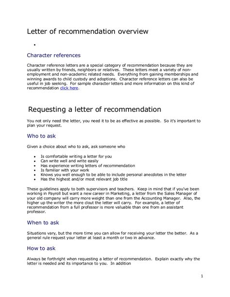 How Should A Letter Of Recommendation Be