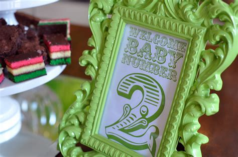 Second Baby Shower Themes by Easy Being Green Baby Shower Limestone