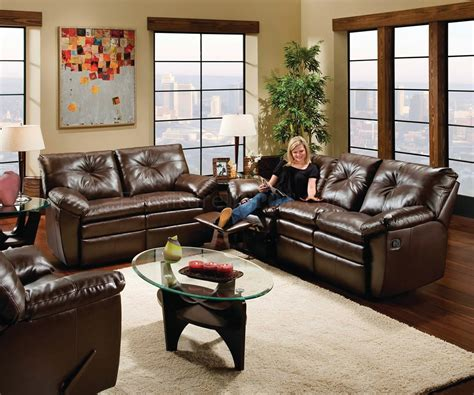 Black And Brown Living Room by Black Or Brown Bonded Leather Modern Dual Motion Living Room