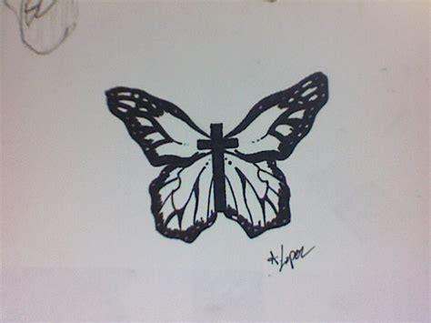Butterfly Cross Tattoo By Blackwidowtat2 On Deviantart Croos With Butterfly Tattoos