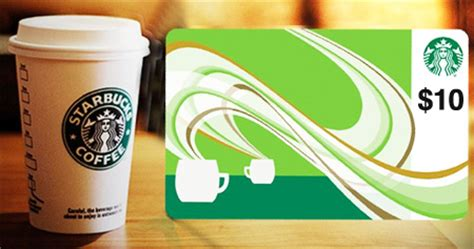 10 Dollar Starbucks Gift Cards - hot 10 starbucks gift card for 5 free stuff finder