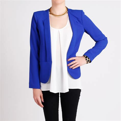Blue Blazer womens royal blue blazer trendy clothes