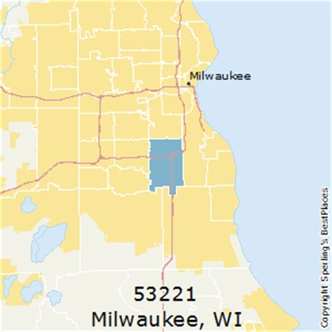 zip code map milwaukee best places to live in milwaukee zip 53221 wisconsin