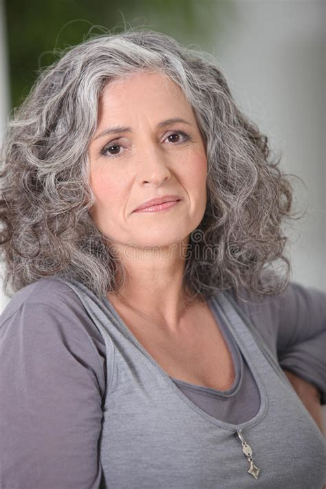 Hairstyle Photos Only Sel by Relaxed Gray Haired Stock Photo Image Of Calm