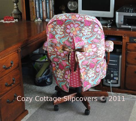 slipcovers for desk chairs cozy cottage slipcovers old blog disco flower office chair