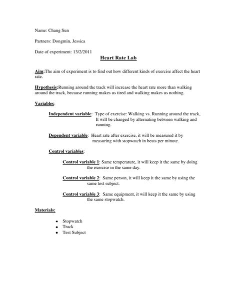 Experiment Conclusion Outline science lab report