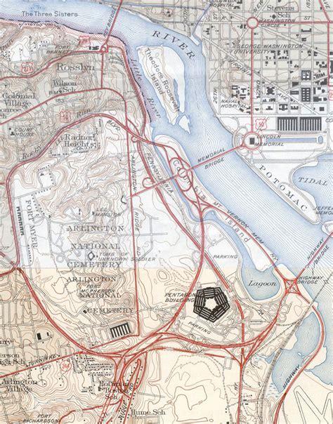 washington dc map pentagon nationalfriedhof arlington wikiwand