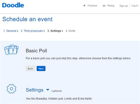 doodle basic poll 友人とのスケジュール調整には doodle の無料サービスが便利 簡単使い方ガイド