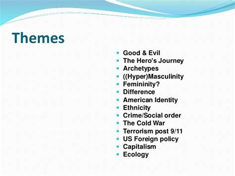 themes in superhero films superhero movies