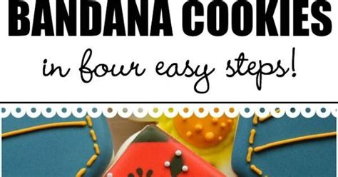 Learn To Earn From Printmaking learn to make bandana print cookies in four easy steps quot kooky quot ideas for cookies