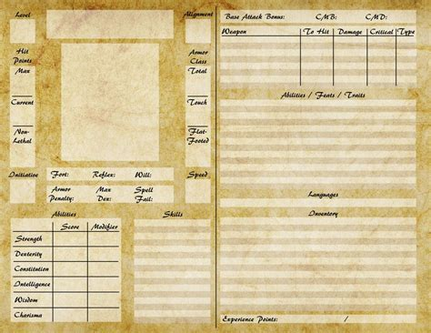 rpg card template pathfinder character sheet by elderautumnmoon deviantart
