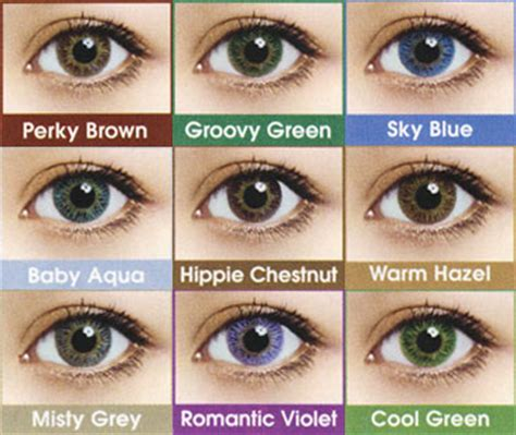 tips for using cosmetic lenses colors of contact lenses