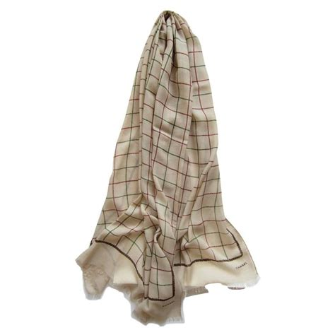 chanel beige wrap scarf 1990 s for sale at 1stdibs