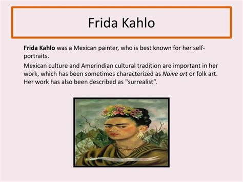 frida kahlo biography ppt ppt hispanic heritage month powerpoint presentation id