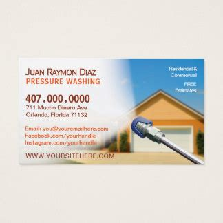 Pressure Washing Business Cards Templates Zazzle Pressure Washing Template
